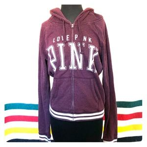 VS PINK Zip Up Hoodie Size Medium